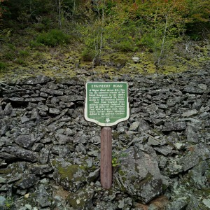Original portion of a wagon road constructed in the 1860's